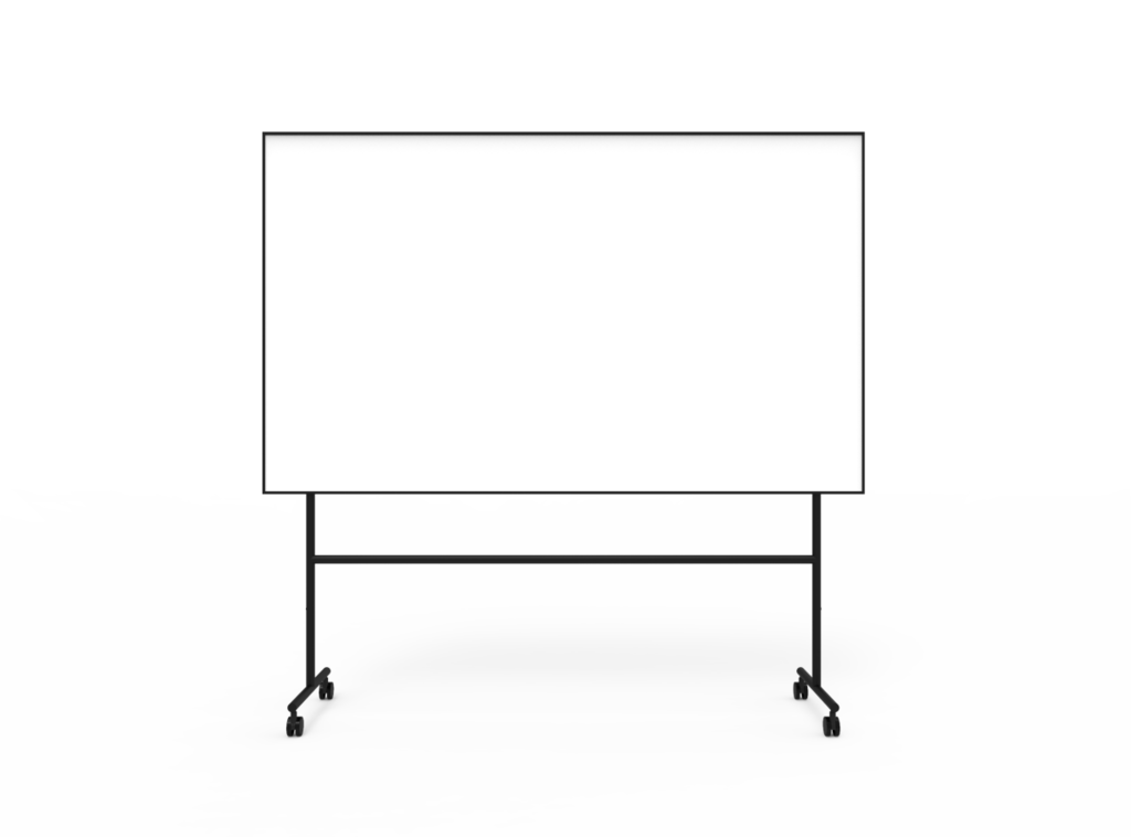 One mobile whiteboard Svart 2007 x 1960 x 500 (2007 x 1207)